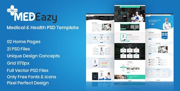 MedEazy PSD Template - Health & Beauty Retail