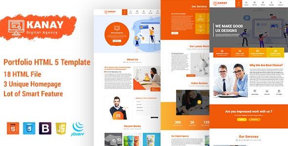 Kanay - Portfolio HTML5 Template - Portfolio Creative