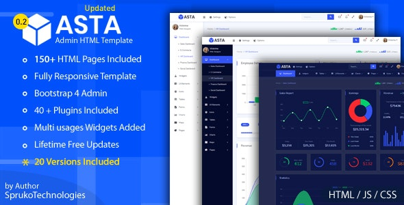 Asta Bootstrap 4 Responsive Admin Html5 Dashboard Template