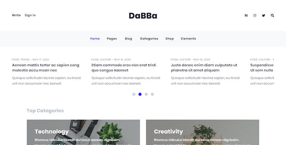 Dabba - A HTML Template For Blog & Shop