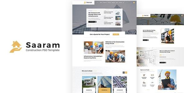 Saaram | Construction PSD Template - Miscellaneous PSD Templates