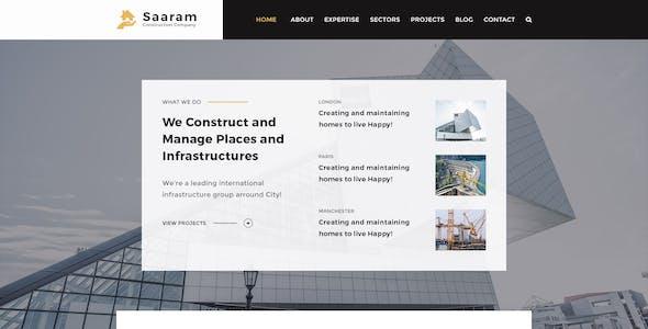 Saaram   Builder, Construction PSD Template