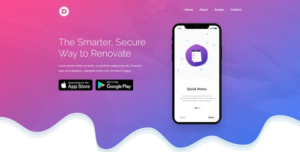 Dro - Software, App, Saas & Product Showcase Landing Page