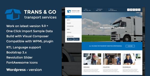 TransGo - Transport & Logistics WordPress Theme - Business Corporate