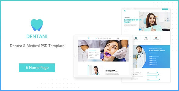 Dentas | Dentist & Medical PSD Template - Health & Beauty Retail