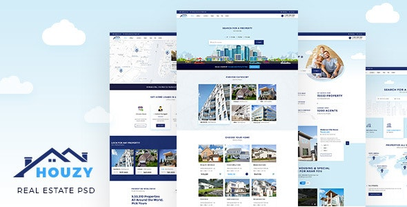 Houzy | Real Estate Listing PSD Template - Miscellaneous PSD Templates