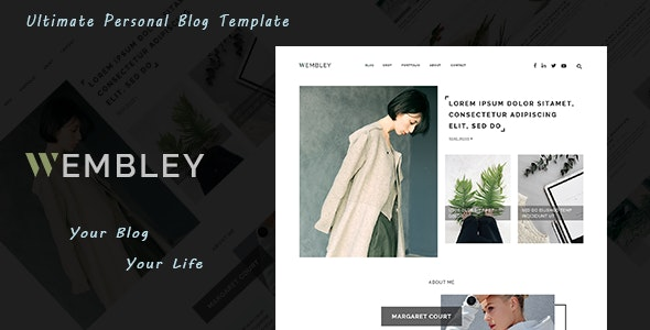 Wembley - Ultimate Personal Blog PSD Template - Personal PSD Templates