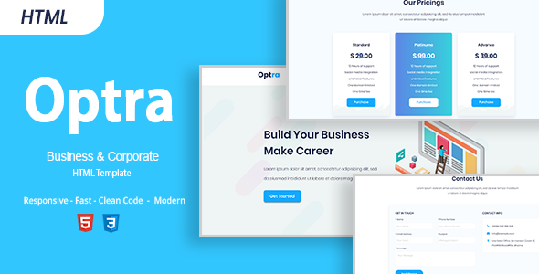 Optra - Business and Corporate HTML Template - Business Corporate