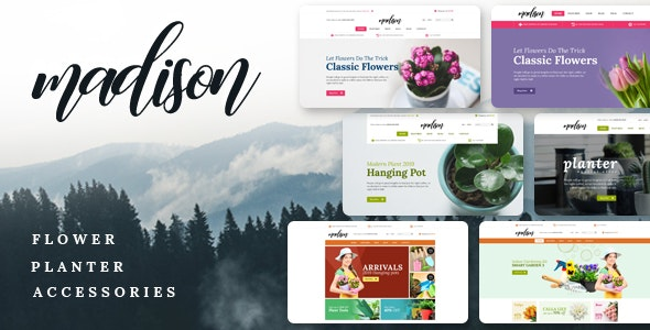 Madison - Flowers, Plant, Beauty, Gardening tools, Food store, Nursery Shopify Theme - Health & Beauty Shopify