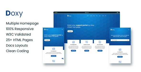 Doxy - Knowlegebase & Documentation Site Template - Technology Site Templates