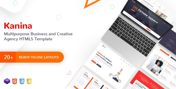 Kanina - Multipurpose Business and Creative Agency HTML5 Template - Corporate Site Templates