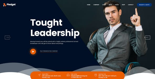Pledget   Business Consulting & Finance PSD Template