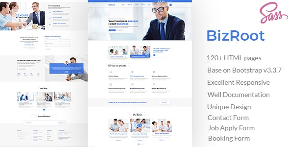 BizRoot - Business and Finance HTML Template - Business Corporate