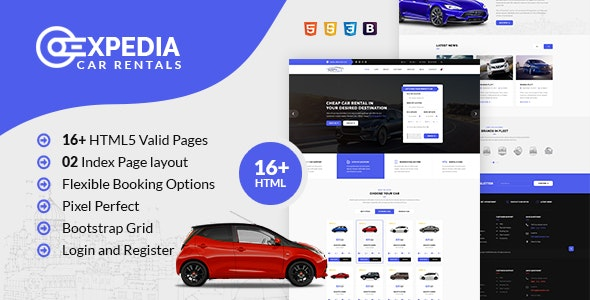 Xpedia - Car Rental HTML Template - Travel Retail