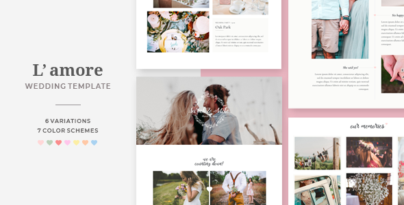 L'amore - Wedding HTML Template - Wedding Site Templates