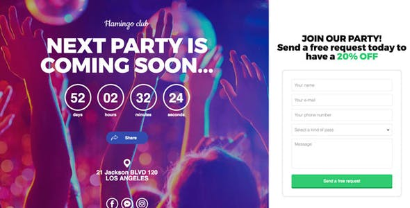 Jonny - Contact Page for Leads Generation & Coming Soon Template