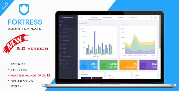 Fortress - React Admin Template by FortressThemes | ThemeForest