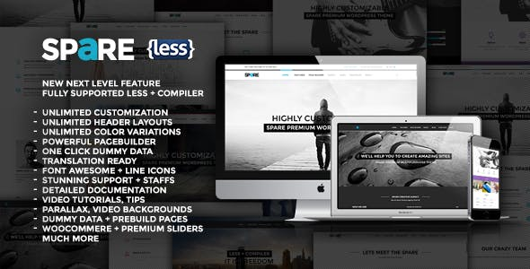 Spare - Ultimate MultiPurpose LESS Theme