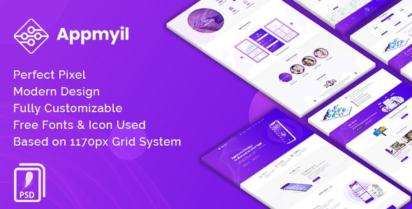 Appmyil - App Landing Page - Technology Photoshop