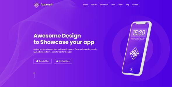 Appmyil - App Landing Page