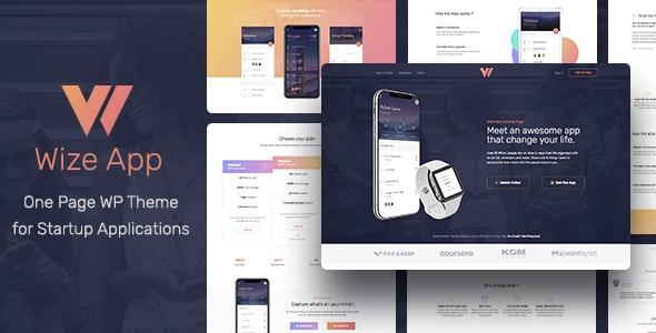 WizeApp - One Page App Landing - Marketing Corporate