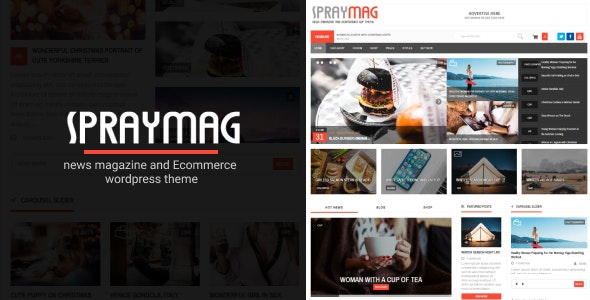 Spraymag - eCommerce, Magazine, Responsive Blog Theme - News / Editorial Blog / Magazine