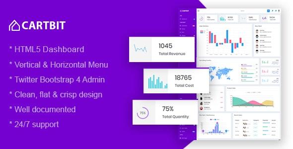 Cartbit - Responsive Bootstrap 4 Admin Dashboard - Admin Templates Site Templates