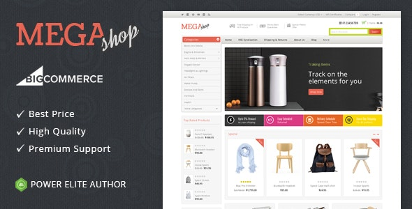 Mega Shop - Multipurpose Stencil BigCommerce Theme - BigCommerce eCommerce