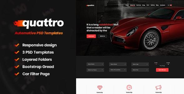 Quattro - Automotive PSD Templates - Business Corporate