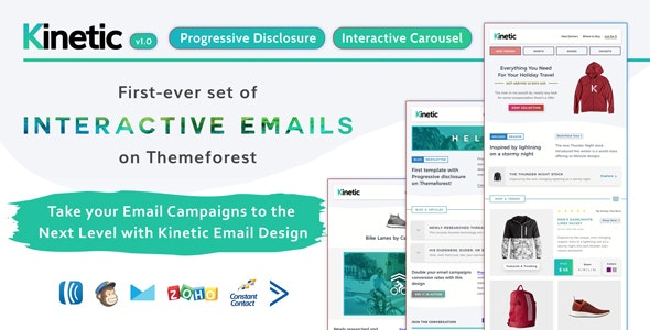 Kinetic - Interactive Emails + Robust Editor - Email Templates Marketing