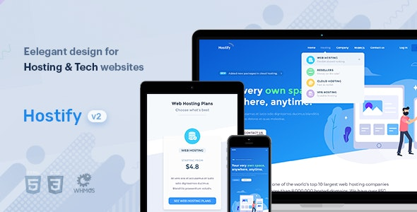 Hostify — Hosting HTML & WHMCS Template by brandio