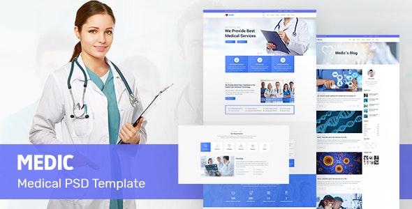 Medic | Medical PSD Template - Health & Beauty Retail