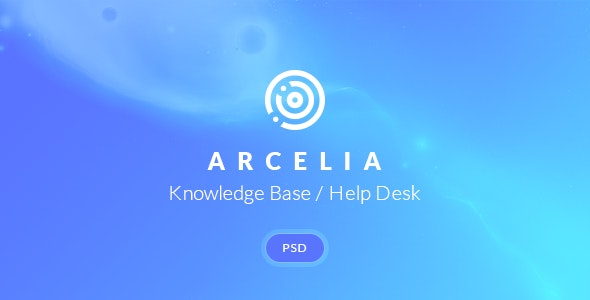 Arcelia — Knowledge Base / Help desk. PSD Template - Software Technology