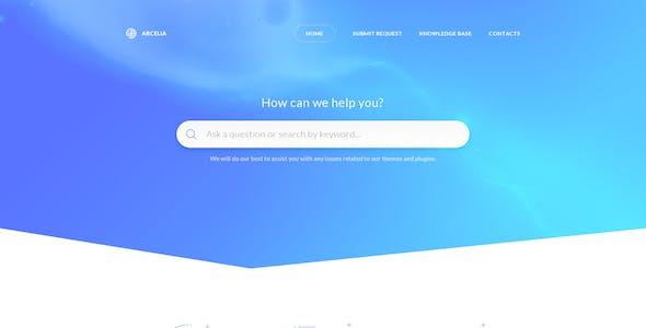Arcelia — Knowledge Base / Help desk. PSD Template