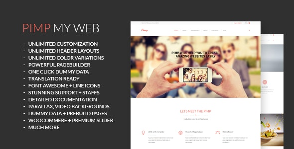 PIMP - Creative MultiPurpose Theme - Creative WordPress