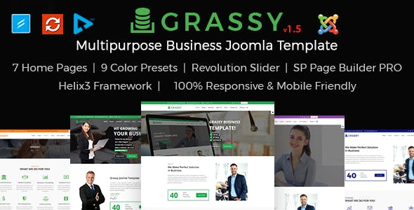 Grassy - Business and  Finance Joomla Template