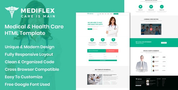 Mediflex - Medical Doctor & Health Care HTML Template - Health & Beauty Retail