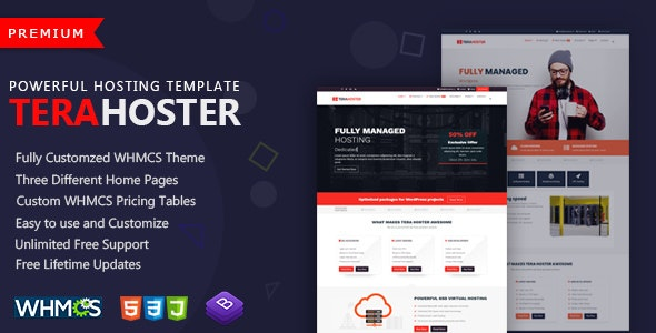 TeraHoster - Professional Hosting Template with WHMCS - Hosting Technology