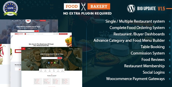 FoodBakery | Food Delivery Restaurant Directory WordPress Theme by