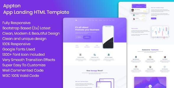 Appton App Landing Page