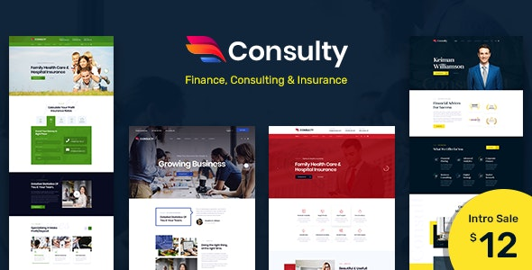 Consulty - Finance Consulting and Insurance PSD Template - Business Corporate
