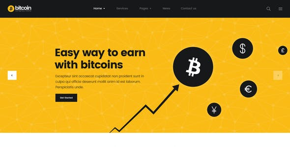 Bitcoin - ICO and Cryptocurrency PSD Template