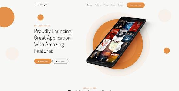 Mixup - App Landing Page PSD Template