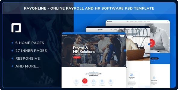 Payonline - Online Payroll and HR Software PSD Template