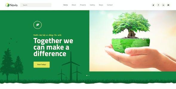 Novio - Ecology & Environmental Non-Profit Organization PSD Template