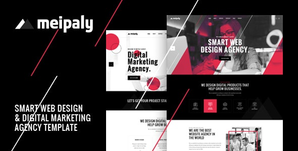Meipaly - Digital Services Agency PSD Template - Creative Photoshop