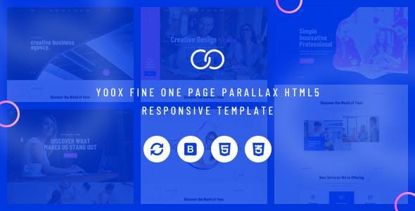 9ba20d3dd02b Yoox - Fine One Page Parallax HTML5 Responsive Template - Portfolio Creative