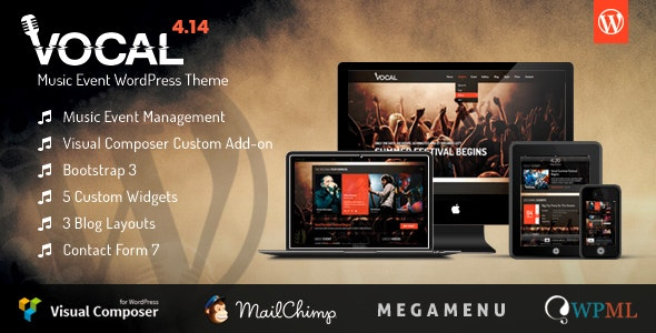 Vocal - Music Event WordPress Theme - Music and Bands Entertainment