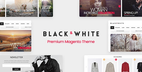 Black&White - Responsive Magento 2.3.2  Theme - Magento eCommerce