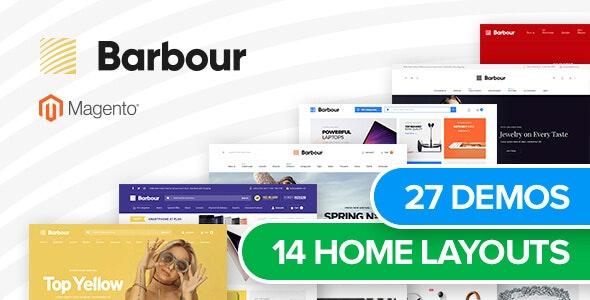 Barbour - Multi-Purpose Responsive Magento 2.3.5 Theme - Site Templates